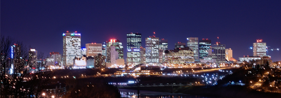 EdmontonSkylineatnight